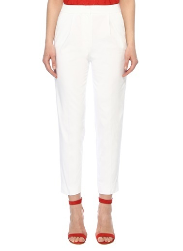 NetWork Kadın 1073865 Slim Fit Pantolon Beyaz